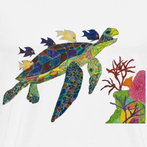 Happy Rainbow Turtle - Men's Premium T-Shirt