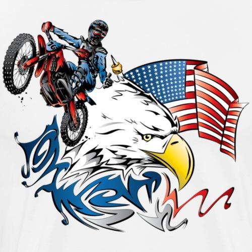 Patriotic Dirtbiker - Men's Premium T-Shirt