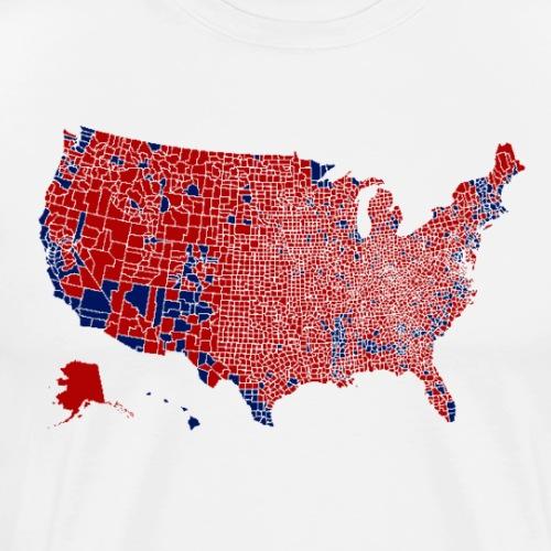 Electoral Map 2016 - Men's Premium T-Shirt