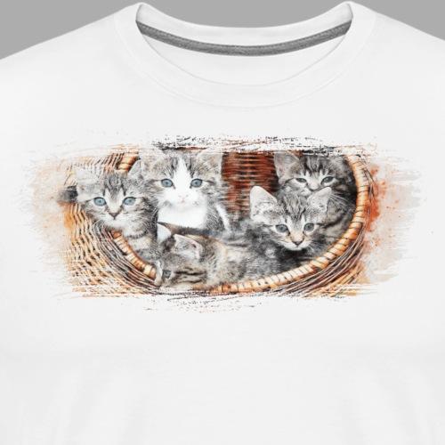 Basket full of kittens - Men's Premium T-Shirt