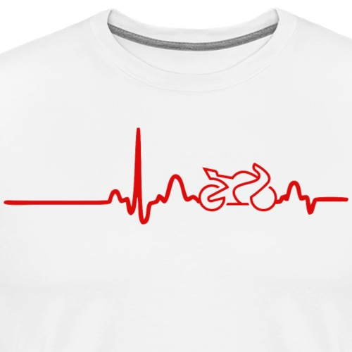 EKG HEARTLINE BIKE red - Men's Premium T-Shirt