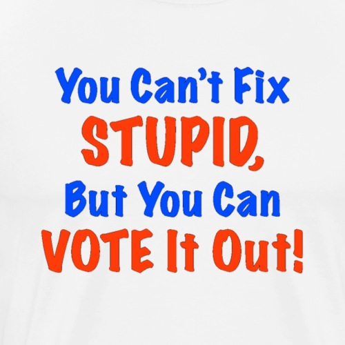 You Can't Fix Stupid But You Can Vote It Out! - Men's Premium T-Shirt