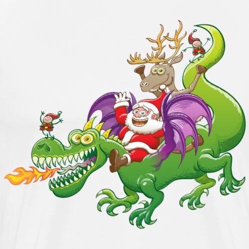 Santa Claus Changed his Reindeer for a Dragon - Men's Premium T-Shirt