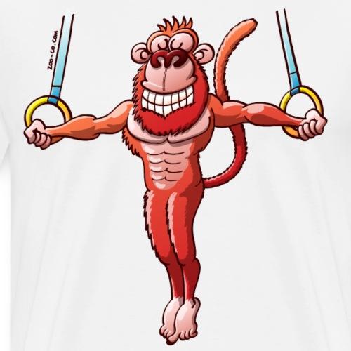 Olympic Flying Rings Monkey - Men's Premium T-Shirt
