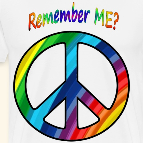 remember me - Peace Sign - Men's Premium T-Shirt