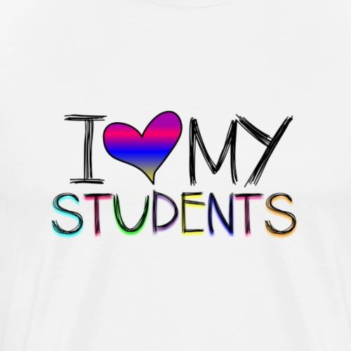 Love my studentss png - Men's Premium T-Shirt