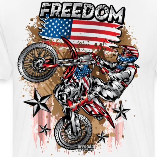 Motocross USA - Men's Premium T-Shirt