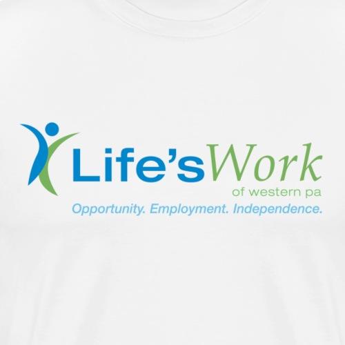 Life'sWork Standard Logo - White - Men's Premium T-Shirt