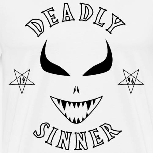 Deadly Sinners BLACK Logo - Men's Premium T-Shirt