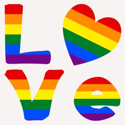 Gay Pride Rainbow LOVE - Men's Premium T-Shirt