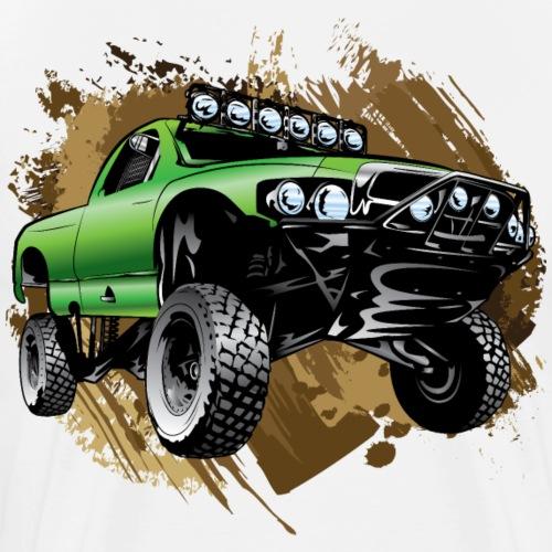 Mudding Green Race Truck - Men's Premium T-Shirt