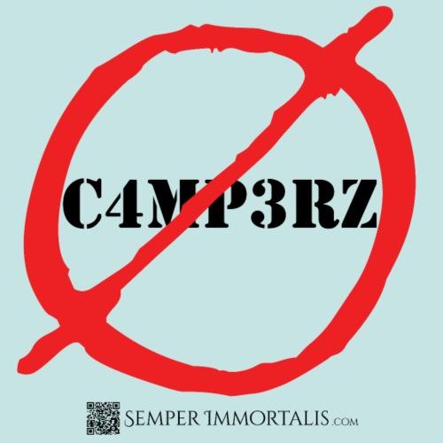 No Campers (black) - Men's Premium T-Shirt