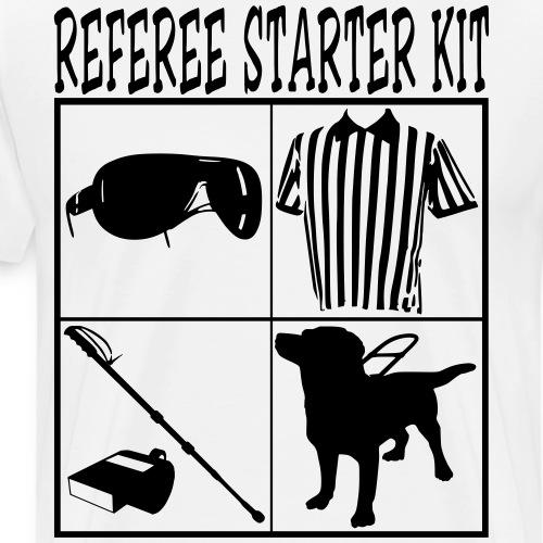 REFEREE Starter Kit Funny T-Shirt Design Tees - Men's Premium T-Shirt