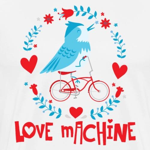 Cute Love Machine Bird - Men's Premium T-Shirt