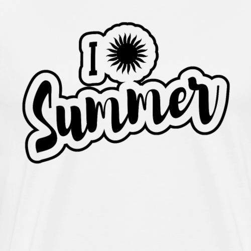 I love Summer Sun Holiday Vacation - Men's Premium T-Shirt