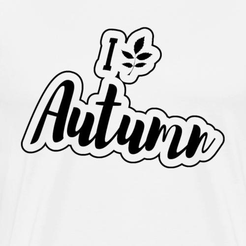 I love Autumn Giftidea Leaf October - Men's Premium T-Shirt