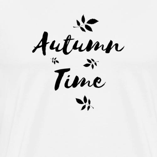 Autumn Time Leaves Gift - Men's Premium T-Shirt