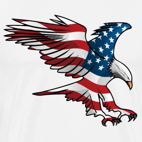 Patriotic American Eagle - Men's Premium T-Shirt