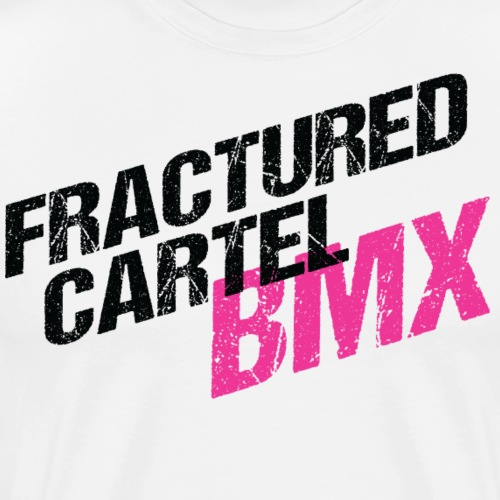 Fractured Cartel BMX Black & Pink - Men's Premium T-Shirt