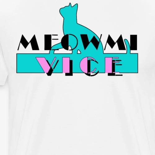 Funny Cats Meowmi Vice 80s Tee Shirt by Bestees - Men's Premium T-Shirt