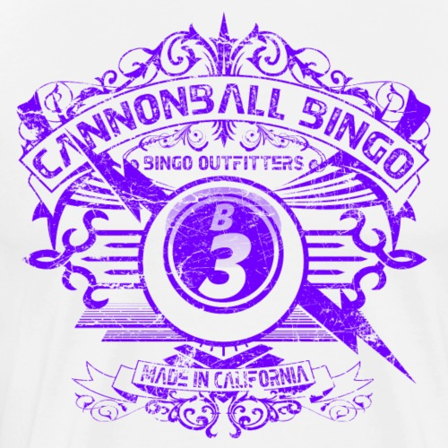 Vintage Cannonball Bingo Crest Purple - Men's Premium T-Shirt