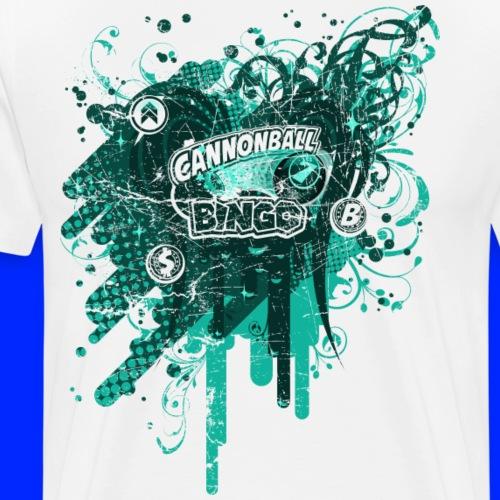 Vintage Cannonball Bingo Drip Teal - Men's Premium T-Shirt