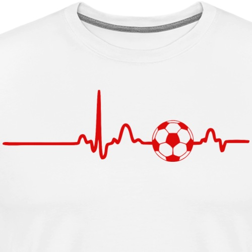 EKG HEARTBEAT BALL red - Men's Premium T-Shirt