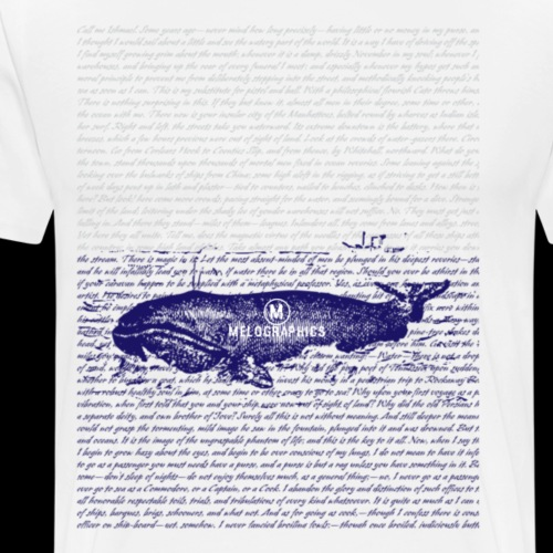 Call Me Ishmael Whale - Men's Premium T-Shirt