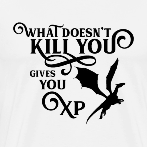 What Doesn't Kill You Gives You XP Gaming Geek - Men's Premium T-Shirt