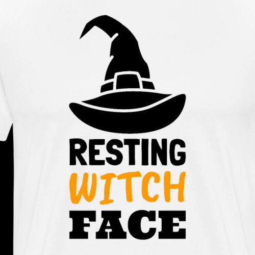 Resting Witch Face | Funny Halloween - Men's Premium T-Shirt