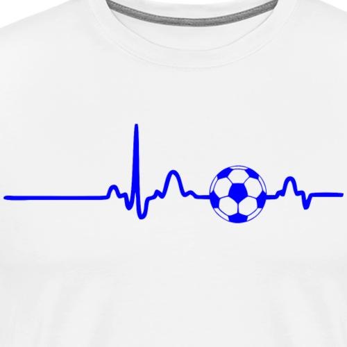 EKG HEARTBEAT BALL blue - Men's Premium T-Shirt