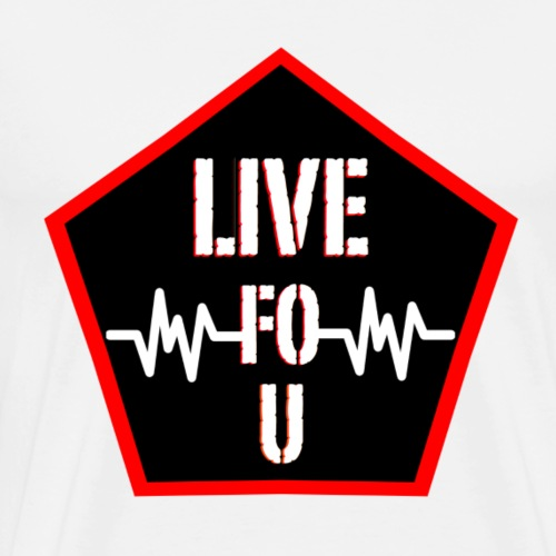 LIVE FOR U LOGO png - Men's Premium T-Shirt