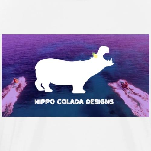 Hippo Colada Designs-Jetski - Men's Premium T-Shirt