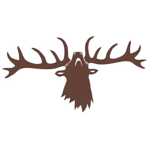 wild stag deer moose elk antler antlers horn horns - Men's Premium T-Shirt