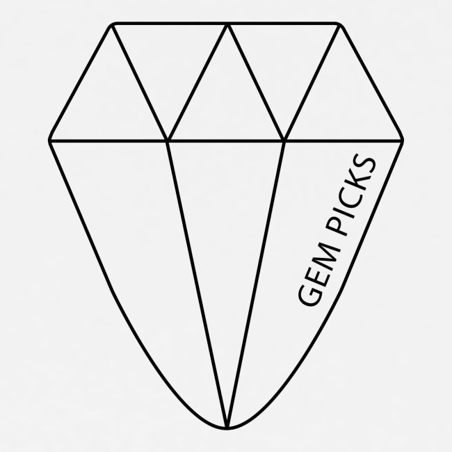 Gem Picks - Premium - Black Ink