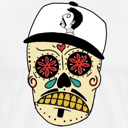 Skull With Snapback - Men's Premium T-Shirt