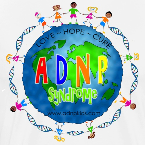 Global Graphic with Kids with ADNP Syndrome copy - Men's Premium T-Shirt