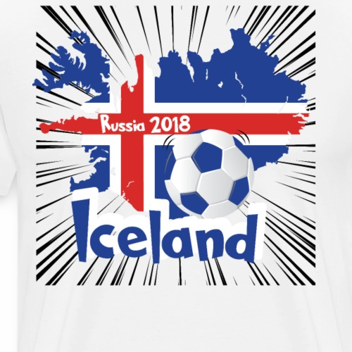 iceland soccer national team world cup russia 2018 - Men's Premium T-Shirt