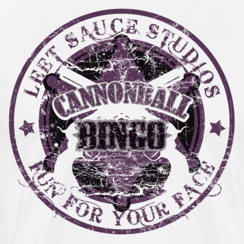 Vintage Cannonball Bingo Badge All Purple - Men's Premium T-Shirt