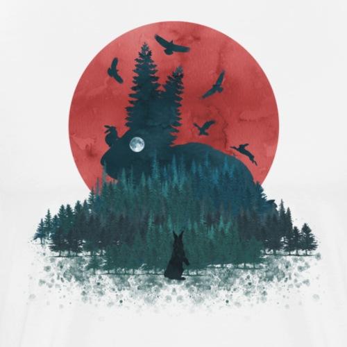 Landscape Bunny - Men's Premium T-Shirt