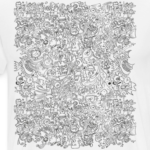 I can not stop this insane doodling - Men's Premium T-Shirt