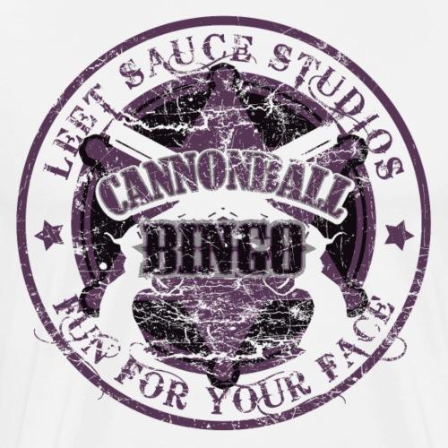 Vintage Cannonball Bingo Badge All Purple - Men's Premium T-Shirt