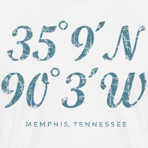 Memphis Coordinates (Vintage Blue) - Men's Premium T-Shirt