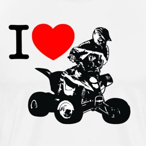 i love quad - Men's Premium T-Shirt