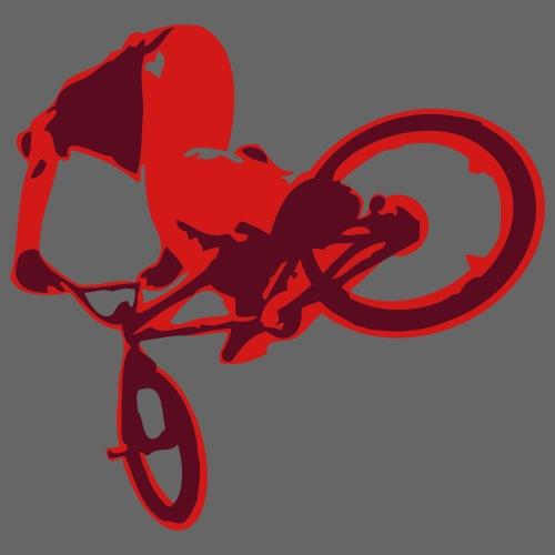 Extreme BMX Bike Flex Print Design - Men's Premium T-Shirt