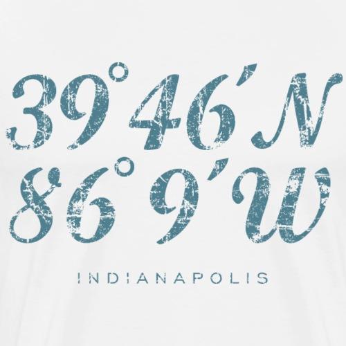 Indianapolis Coordinates (Vintage Blue) - Men's Premium T-Shirt