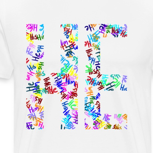 He/Him/His Pattern He - Men's Premium T-Shirt
