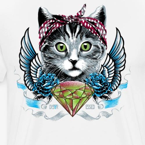 Distressed meow meow - Men's Premium T-Shirt