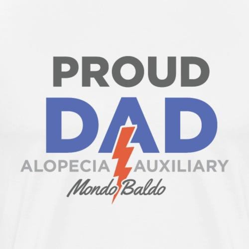 Mondo Baldo Alopecia Auxiliary - For Dad - Men's Premium T-Shirt