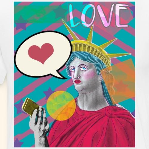 Lady Liberty Social Media Love PopArt